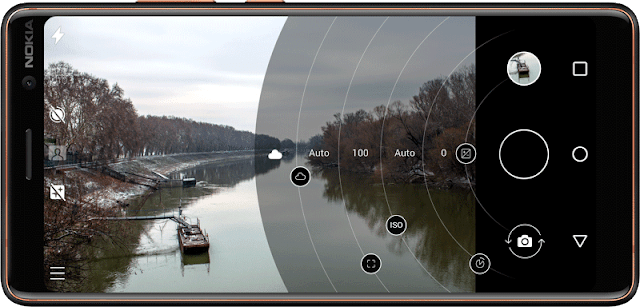 Pro Camera UI on Nokia 7 Plus