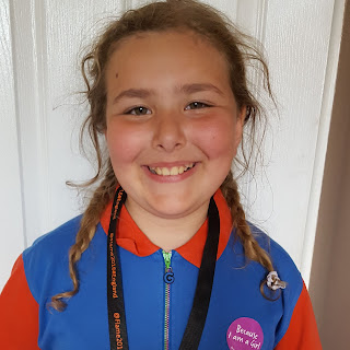 Top Ender in her Girl Guide uniform