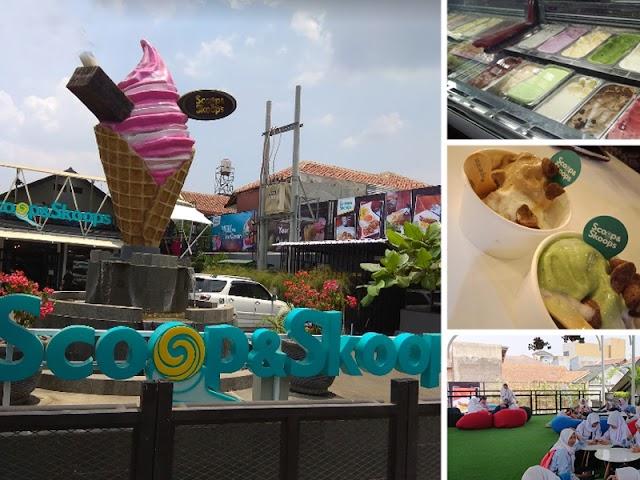 Scoop & Skoop, Kedai Es Krim Instagramable dan Unik di Kawasan Ciwastra