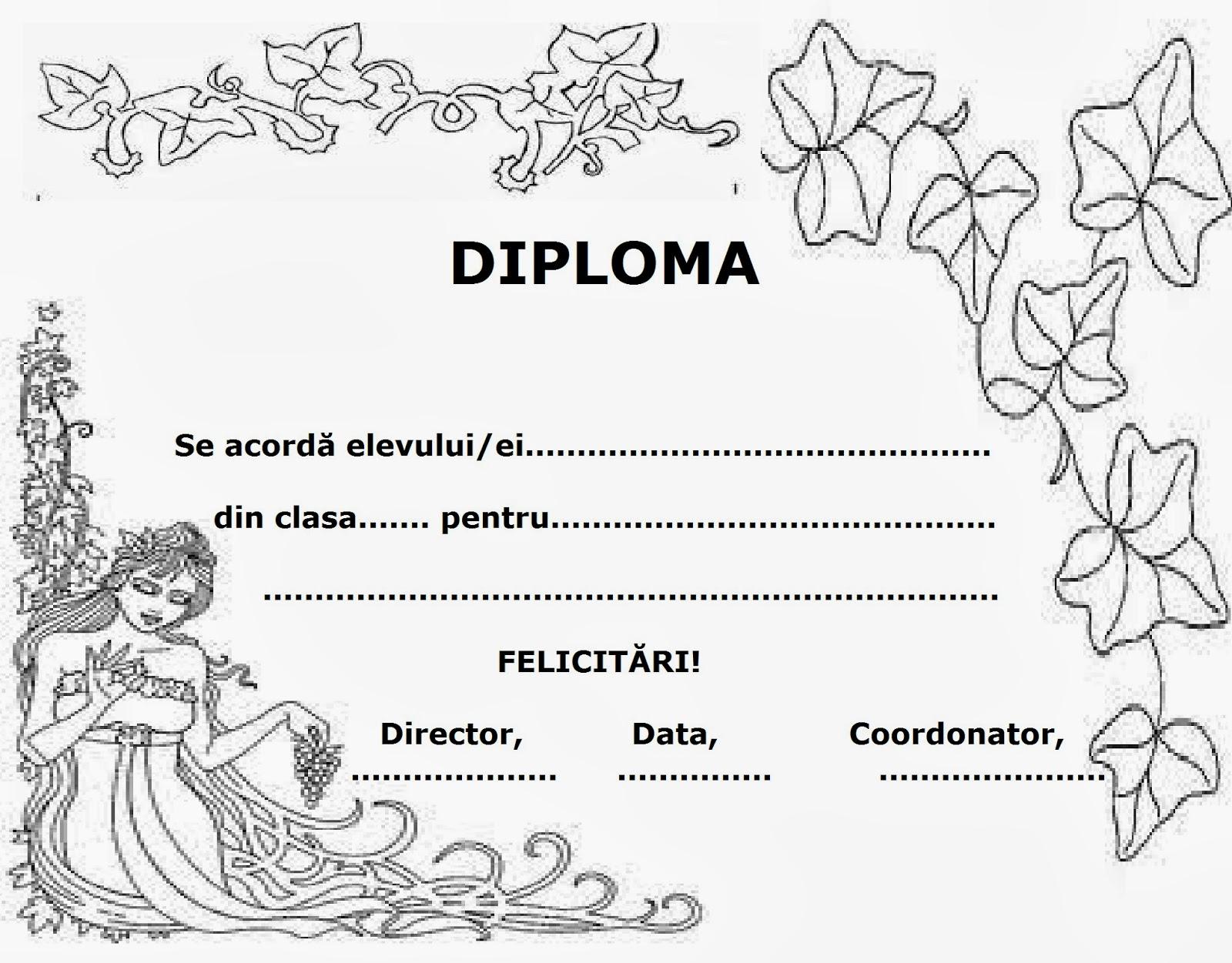 Lumea lui Scolarel...: Diplomă de toamnă