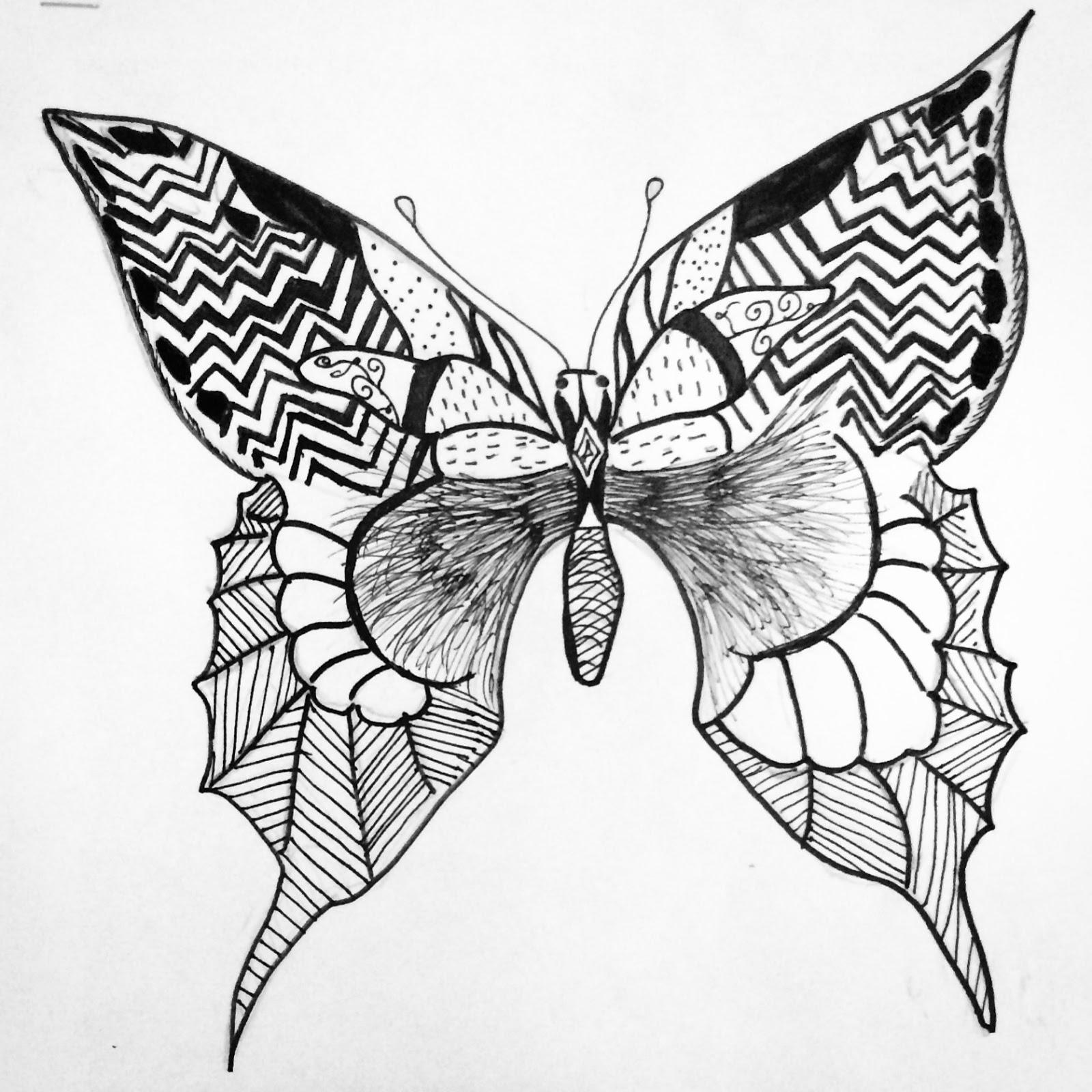 Art Paper Scissors Glue Line Design