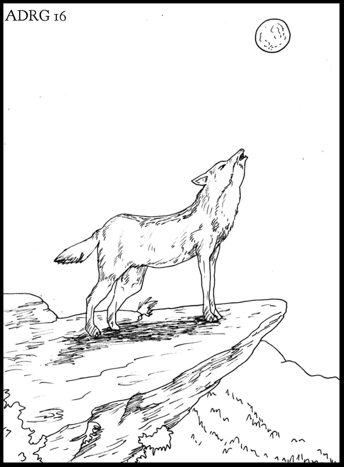 Un Ambientalista Un Dibujo De Un Lobo