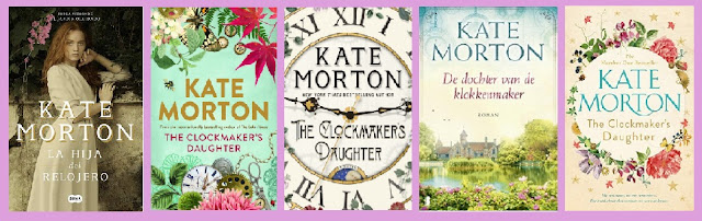 portadas de la novela negra con fantasía La hija del relojero, de Kate Morton