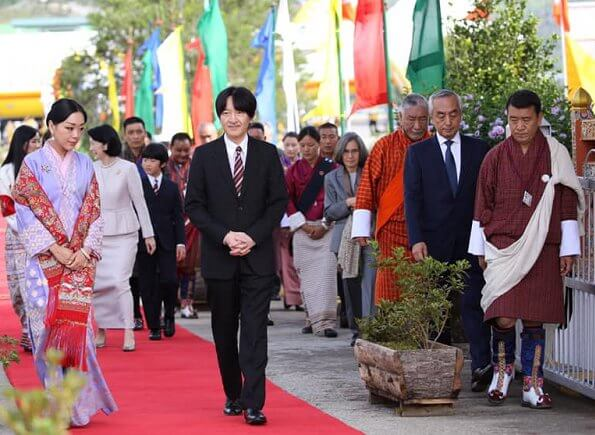 Crown Prince Akishino, Crown Princess Kiko, Prince Hisahito, King Jigme Khesar Namgyel and Queen Jetsun Pema