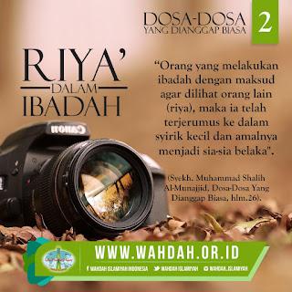 Mengenal Pengertian Riya' Lebih Dekat