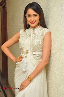 Actress Pragya Jaiswal Stills in Beautiful White Dress at turodu Audio Launch  0028.JPG