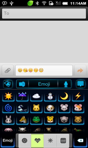 เพิ่มสีสันในการพิมพ์ สไตล์ Go keyboard Emoji น่าใช้ | all