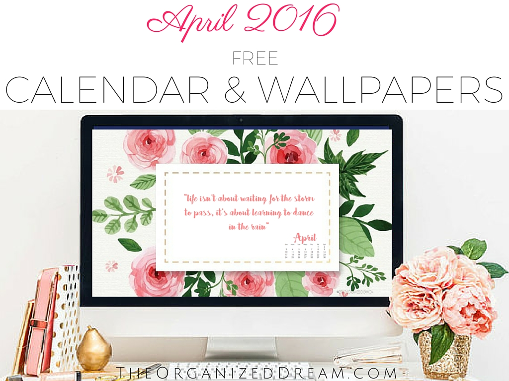 April Calendar Screensaver : Free april calendar printable wallpapers the