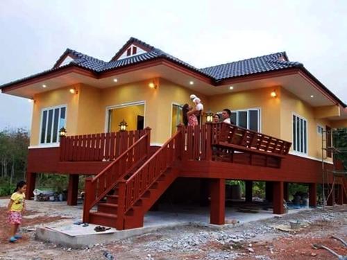 Contoh Gambar Desain Rumah Kampung Sederhana Di Pedesaan