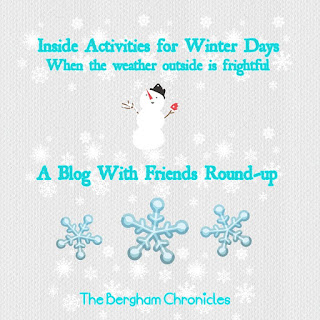 Blog With Friends, a multi-blogger project based post incorporating a theme, Winter Activities | Inside Activities for Winter Days by Jules of The Bergham Chronicles | Featured on www.BakingInATornado.com
