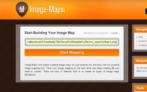 Create Social Media Icons For Blogger Sidebar using PicMonkey & Image-Maps