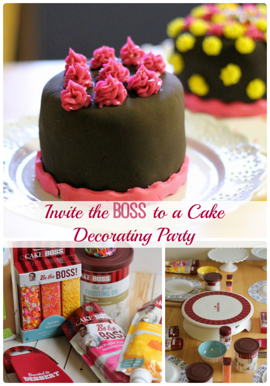 Invite the BOSS to Cake Decorating Party- fun party ideas featuring Cake Boss products! #CakeBossParty #sponsored #IC