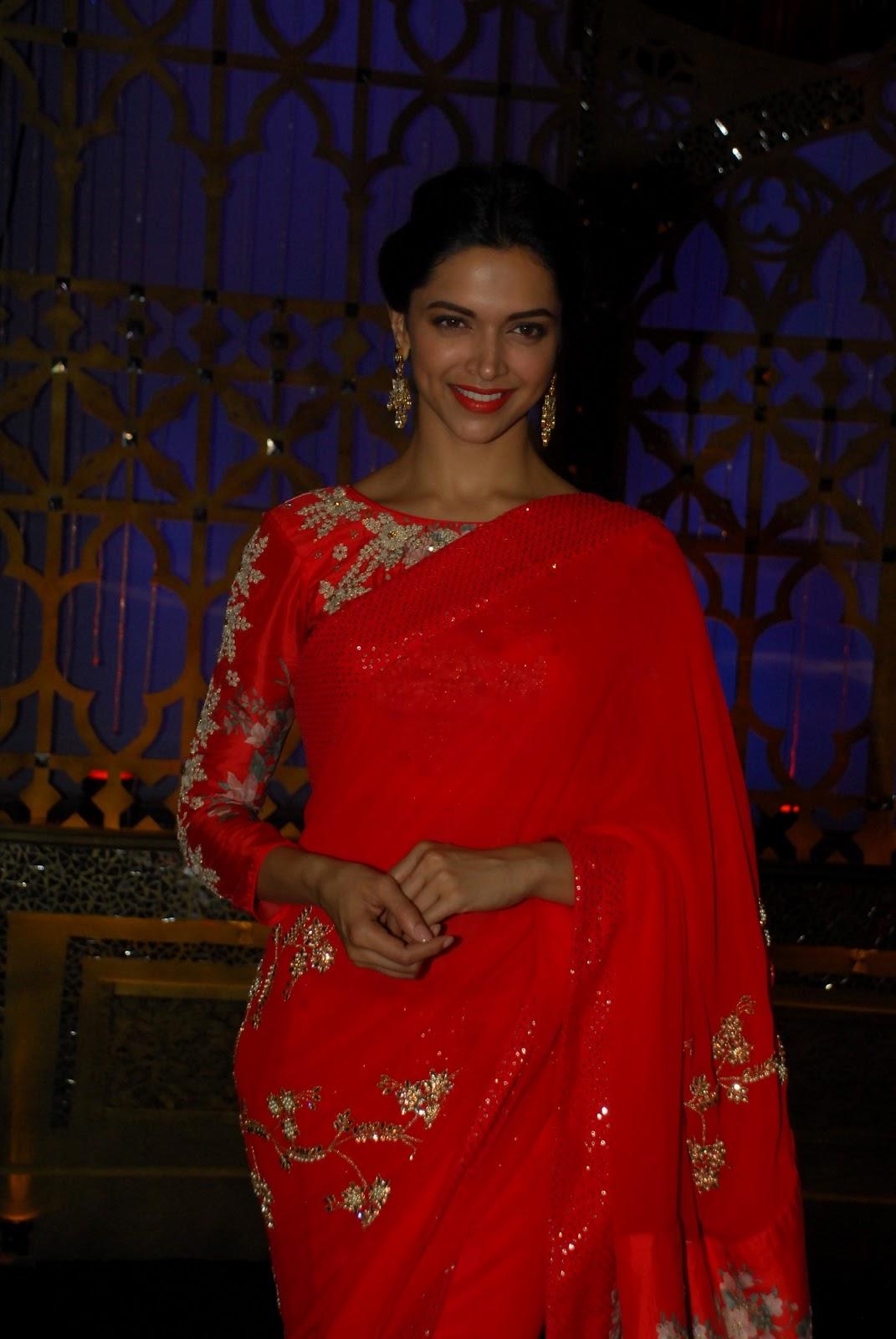Deepika At Zee Tv Show Sexy Red Saree Stills  Latest -4835