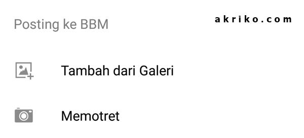 BBM Bisa Update Status Berisi Foto