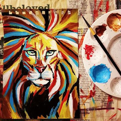 Lion, acrylic