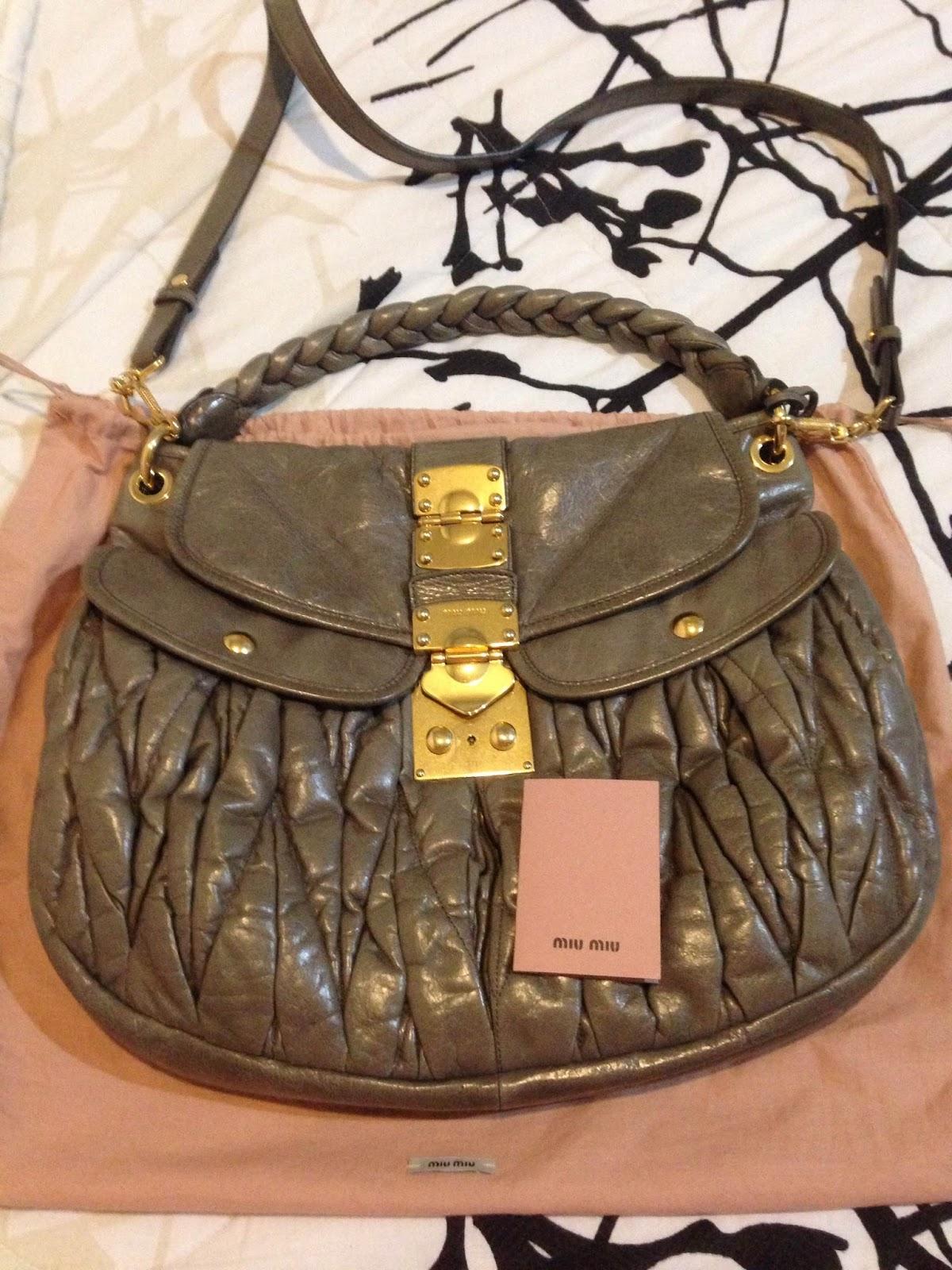 Miu Matelasse Coffer Bag For
