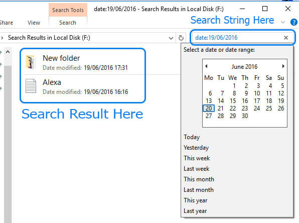Advance search query date