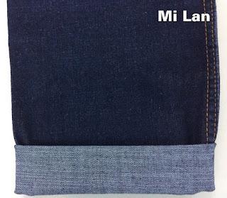 Vải jean cotton thun nam sới chân chim M35