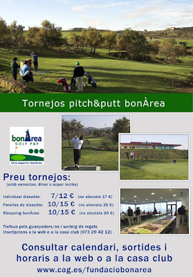 Pitch and Putt Bonarea Torneig Individual