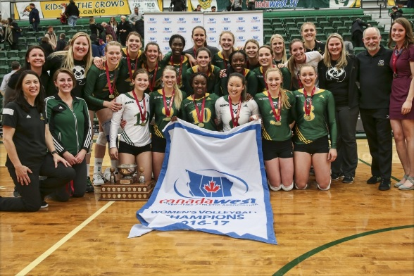 Pandas Volleyball, Canada West Champions