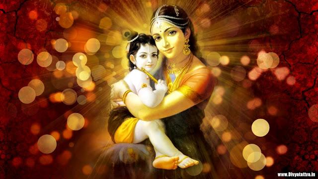 Yoshada mata with krishna photos, cute baby krishna bala gopala background images