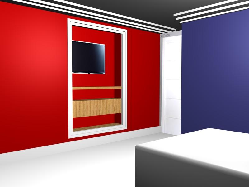 television,dormitorio,decoracion,www.lolatorgadecoracion.es