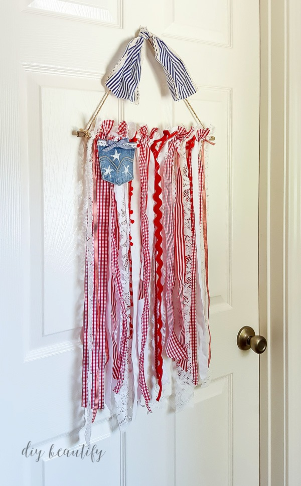 patriotic wall hanging  |  diy beautify
