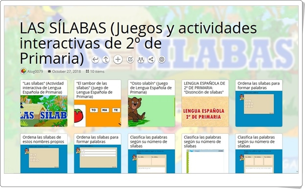 """""""10 Juegos y actividades interactivas para el estudio de LAS SÍLABAS en 2º de Primaria"""""""