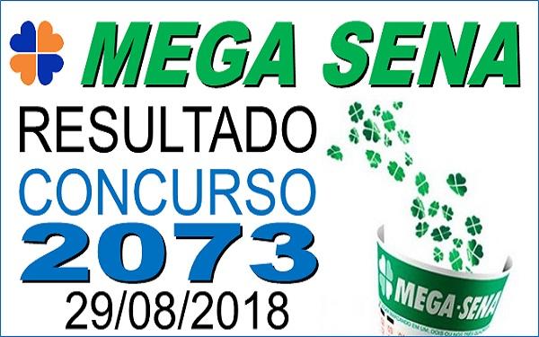 Resultado da Mega Sena concurso 2073 (29/08/2018) ACUMULOU!!! (Imagem: Informe Notícias)