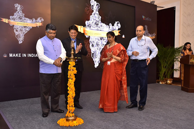 Pic 2: Lamp lighting ceremony for LeEco India's Manufacturing Facility