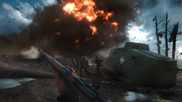 Battlefield 1 - Tank Game Rifle Footage HD Wallpaper