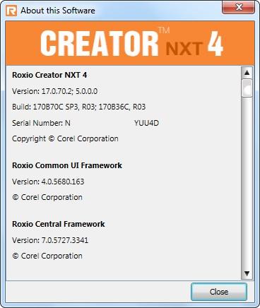 roxio creator nxt pro 2 key