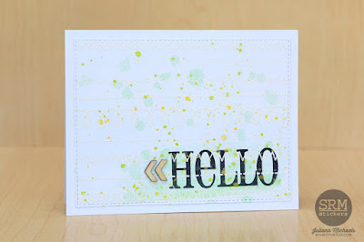 SRM Stickers Blog - BIG Hello Card Set Tutorial from Juliana - #cards #cardset #stamps #bighello #stampedstitches