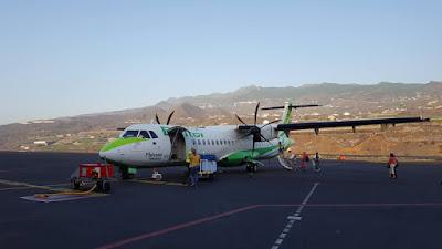 atterraggio a La Palma