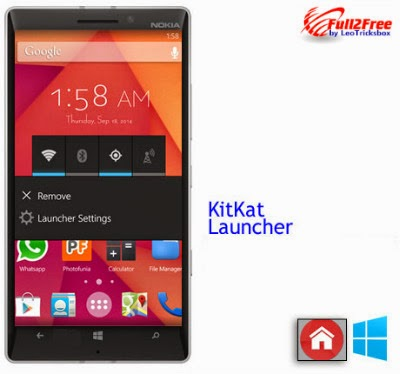 Windows App : KitKat Launcher