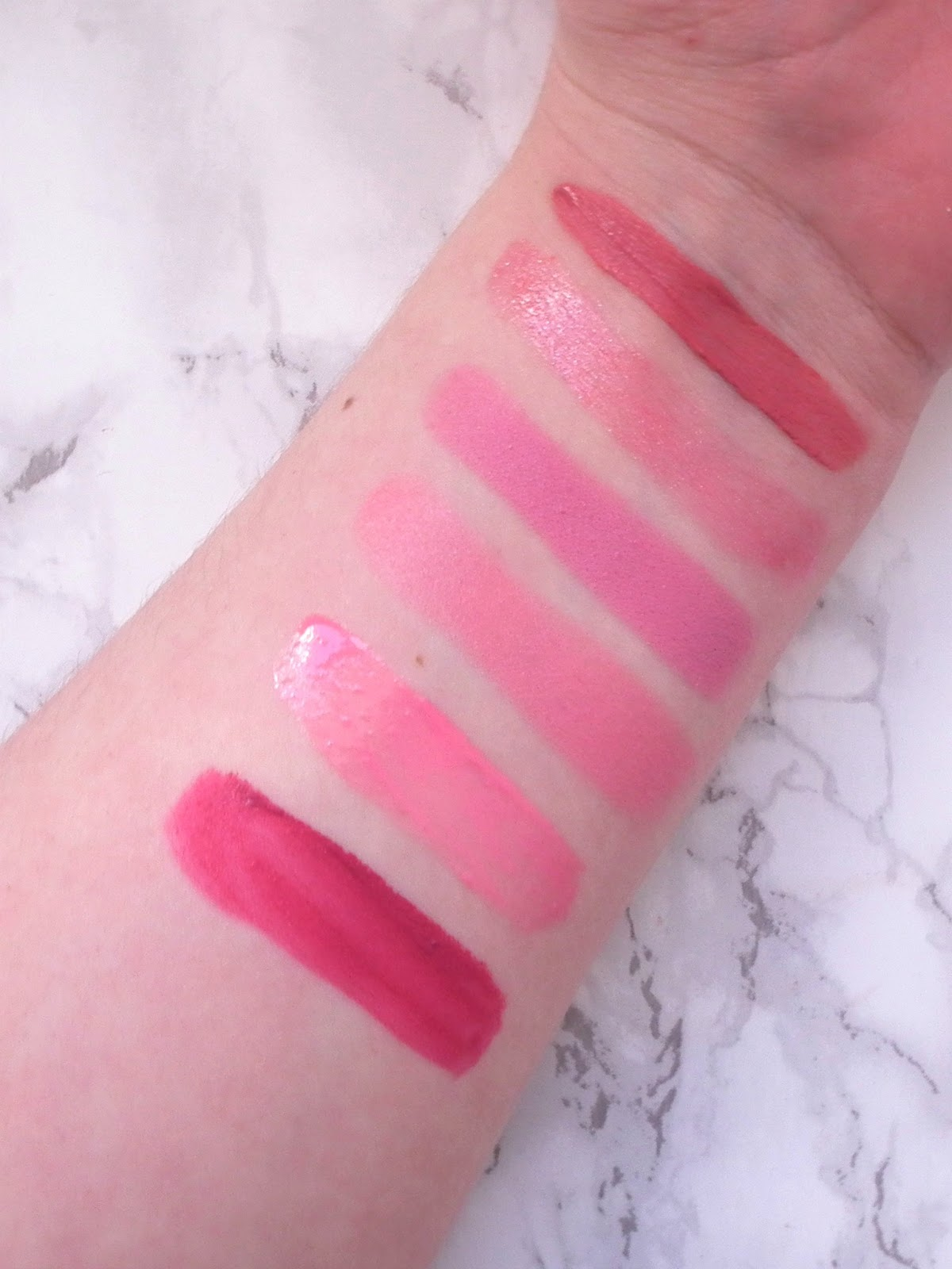 Pink Lip Picks For Spring Arm Swatches