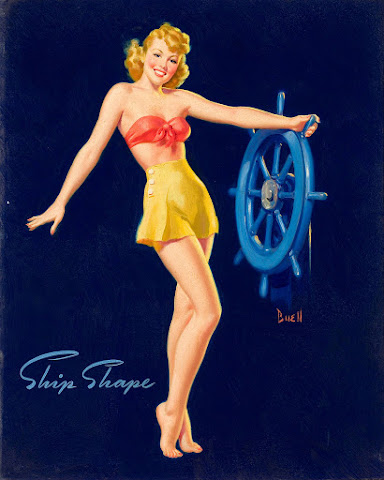 Al Buell pin up girl