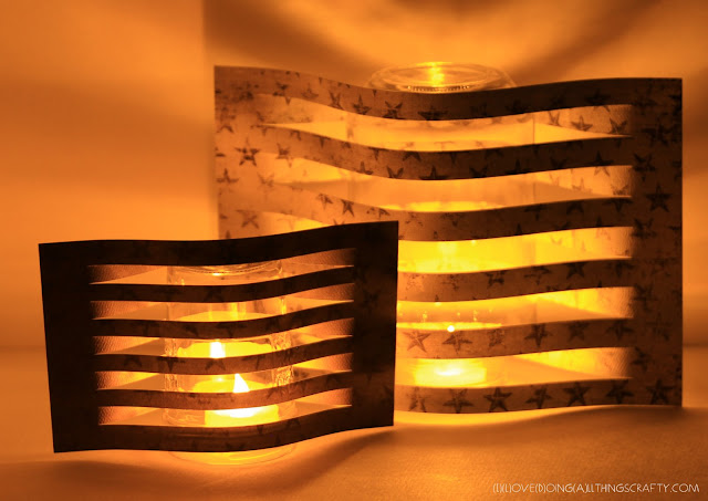 DIY Paper Luminary/Luminaire Sleeves