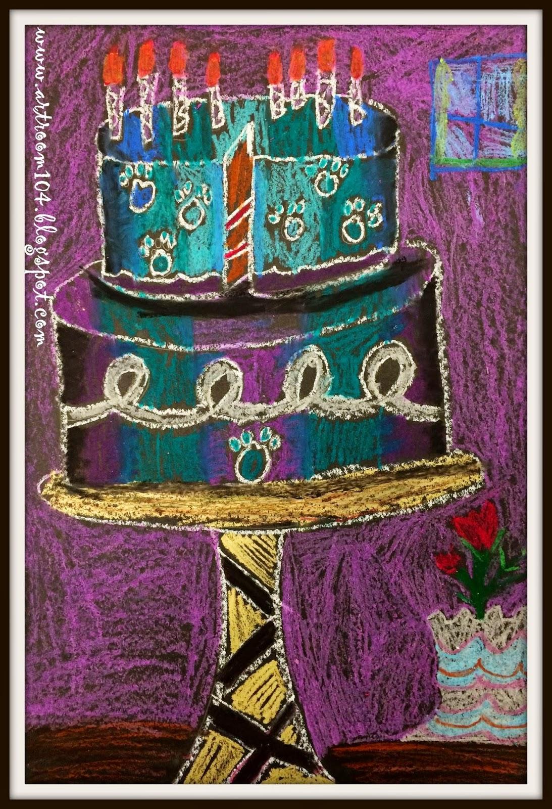 Art Room 104 3rd Grade Wayne Thiebaud Cake Drawings