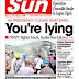 NAIJA NEWSPAPERS: TODAY'S THE DAILY SUN NEWSPAPER HEADLINES [10TH OCTOBER, 2017]