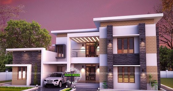 3654 sq ft flat roof house plan kerala home design and floor plans