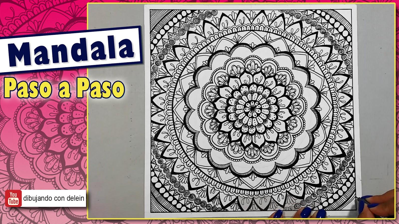Dibujando Con Delein Como Hacer Una Libreta De Dibujo: Dibujando Con Delein: Tips Para Dibujar Mandala, Mandala #29