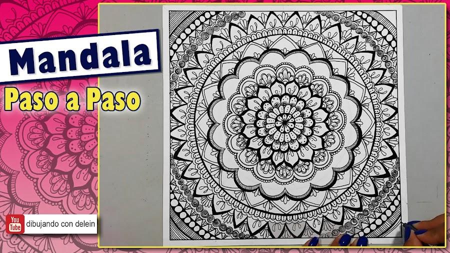 Dibujando Con Delein Como Hacer Una Libreta De Dibujo: Cómo Dibujar Un Mandala Paso A Paso