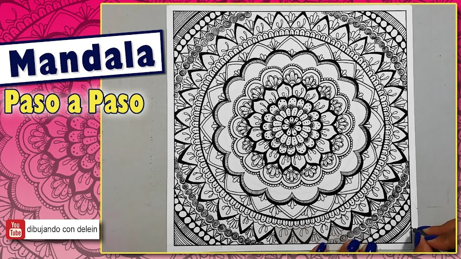 8f26cf753b95 Cómo dibujar un mandala paso a paso