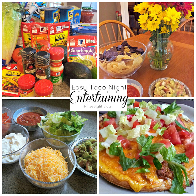 Tacos, Taco Pizza plus Guacamole Salsa for Entertaining a Crowd. It's Simple and Great on the Budget