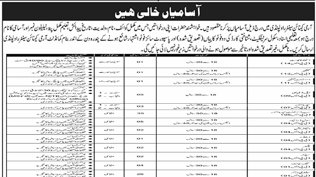 Govt of Pak Army July Jobs 2020 Apply Now