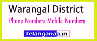 Bachannapeta Mandal Sarpanch Upa-Sarpanch Mobile Nembers List Warangal District in Telangana