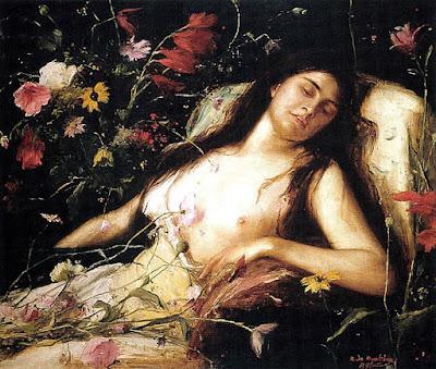 """Mihály Munkácsy, """"Víctima de las flores"""""""