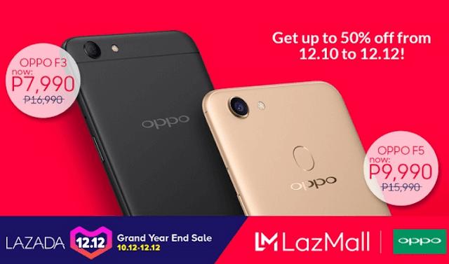 OPPO smartphones gets 50% discount in Lazada's 12.12 sale festival