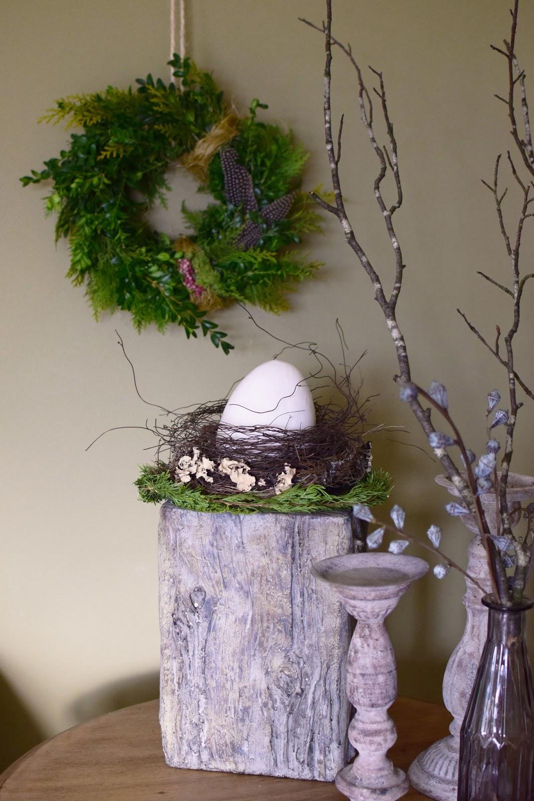Beistelltische, Dekoideen mit Natur, Osterdeko, Deko, Dekoration, Ostern